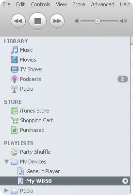 Synchronize non-iPod MP3 player with iTunes